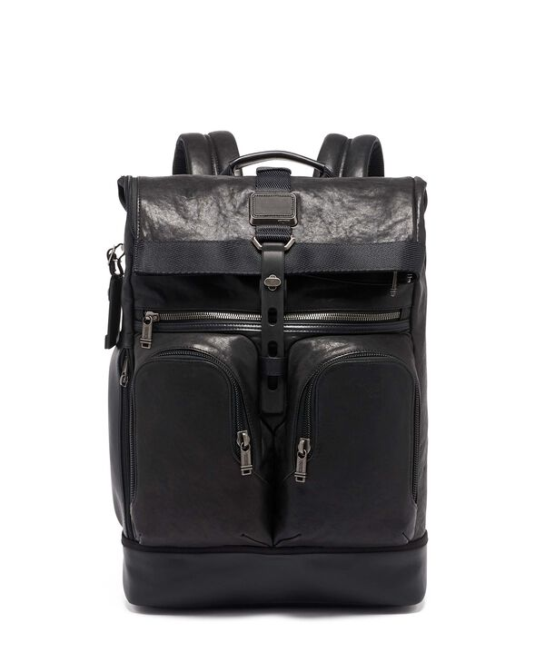 Alpha Bravo London Roll Top Backpack Leather